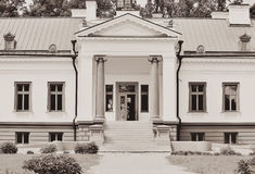 Manor house. Built in 1842-1846 by Prussian baron Gustavas Henrikas Koidelis Lithuania stock photo