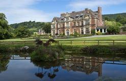 Manor house on exmoor stock image