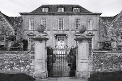 Manor House Exterior. Exterior of a Manor House in Black and White Royalty Free Stock Photos