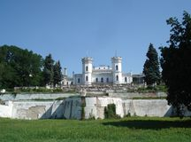 Manor house. The former manor house in the village Sharovka Bogodukhov region of Kharkov stock photo
