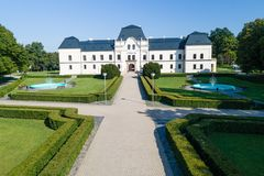The manor house in Humenne, Slovakia Stock Photo