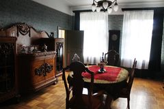 Manor house interior - diningroom royalty free stock image