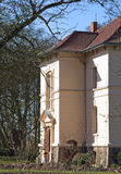 Manor house listed as monument in Klein Zastrow, Germany.  stock photo