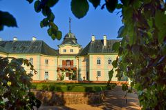 Manor house Manetin royalty free stock photos