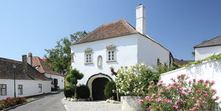 Manor House. Old manor house first mentioned in 1521, used by monks of the near monastery for making and tasting wine. Now a high-class hotel. Situated in Royalty Free Stock Photos