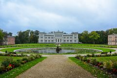 Manor house, palace with park of Duke Oginskis in Plunge, Lithuania. PlungÄ— manor homestead in neo-renaissance. Style royalty free stock photos