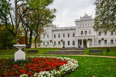 Manor house, palace with park of Duke Oginskis in Plunge, Lithuania. PlungÄ— manor homestead in neo-renaissance. Style royalty free stock photo