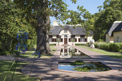 Manor house in South Africa. Mansion of a vineyard in South Africa (Vergelegen&#x29 Royalty Free Stock Image