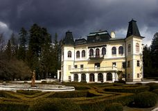 Manor house before storm Stock Photo