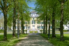 Manor house of Textile Factory Cromford in Ratingen, Germany. Manor house of Textilfabrik Cromford in Ratingen, North Rhine-Westphalia, Germany was built in 1783 royalty free stock photography