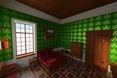 Manor interior - bedroom Stock Images