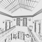 Manor interior Royalty Free Stock Photography