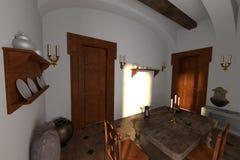 Manor interior - kitchen Royalty Free Stock Image