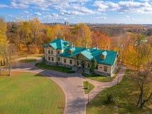 The manor in Loshitsa Garden in Minsk, Belarus stock photos
