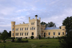 Manor in Neo-Gothicstyle Royalty Free Stock Image