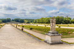 Manor Park of Vaux-le-Vicomte, France. Decorative figures Royalty Free Stock Photography