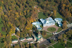 Manor Sheremetyeva from a height 348 meters Stock Photos