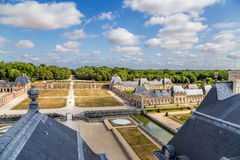 Manor of Vaux-le-Vicomte, France. View from the main building Stock Image