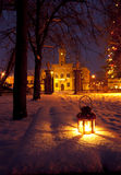 Manor in winter Royalty Free Stock Photography