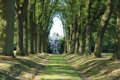 Manor in the woods. Countryhouse in the Dutch woods Royalty Free Stock Photos