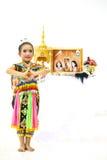 Manora en folkdans av Thailand Arkivfoton