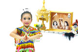 Manora a Folk Dance of Thailand. Manora a Folk Dance in South of Thailand Royalty Free Stock Images