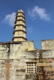 Manora-Fortturm mit Zinne und Fenster Lizenzfreie Stockfotografie