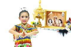 Manora une danse folklorique de la Thaïlande Images libres de droits