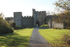 Manorbier城堡 库存照片