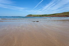 Manorbier beach, Pembrokeshire, Wales Royalty Free Stock Image