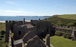 Manorbier castle in South Wales Stock Image