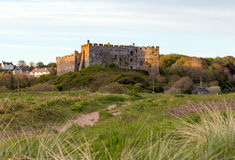Manorbier Castle West Wales near Tenby Stock Images