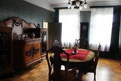 Manorbinnenland - eetkamer royalty-vrije stock afbeelding