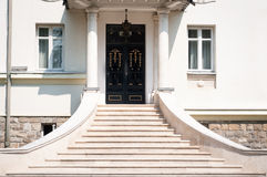 Manorial building entrance Royalty Free Stock Photos