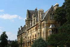 Manorial building in Oxford Stock Image