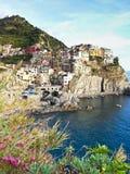 Manorola village in Cinque Terre Stock Image