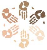 Manos étnicas ilustración del vector