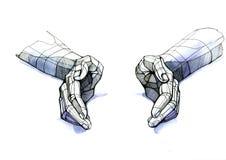 Manos ilustración del vector