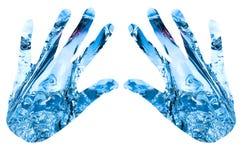 Manos abstractas del agua Foto de archivo libre de regalías