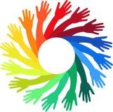 Manos coloridas Foto de archivo libre de regalías