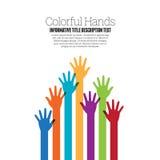 Manos coloridas Imagen de archivo libre de regalías