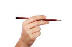 Manos con el lápiz Foto de archivo