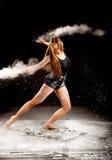 Manos contemporay del bailarín del polvo Fotos de archivo libres de regalías