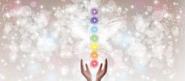 Manos curativas y siete Chakras