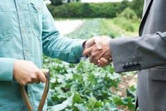 Manos de And Businessman Shaking del granjero fotografía de archivo libre de regalías