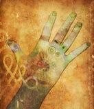 Manos de Chakra Imágenes de archivo libres de regalías