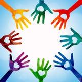 Manos de la ayuda Imagen de archivo libre de regalías