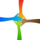 Manos de la diversidad Imagen de archivo