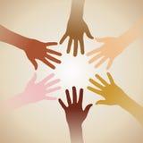 Manos de la diversidad Imagen de archivo libre de regalías