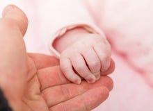 Manos de la madre y del bebé foto de archivo